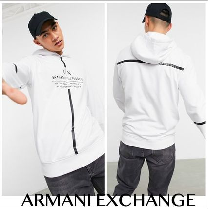 EMPORIO ARMANI Hoodies Street Style Long Sleeves Logo Hoodies