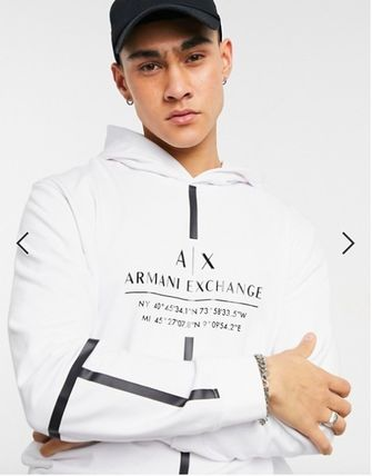 EMPORIO ARMANI Hoodies Street Style Long Sleeves Logo Hoodies 2