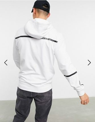 EMPORIO ARMANI Hoodies Street Style Long Sleeves Logo Hoodies 3
