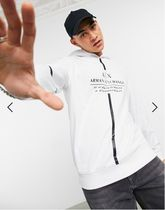 EMPORIO ARMANI Hoodies Street Style Long Sleeves Logo Hoodies 4