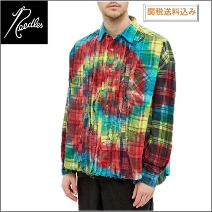 Needles Other Plaid Patterns Unisex Street Style Long Sleeves Cotton