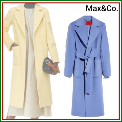 Max&Co. Casual Style Wool Plain Medium Long Office Style