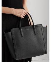 Ralph Lauren Casual Style A4 2WAY Plain Leather Office Style