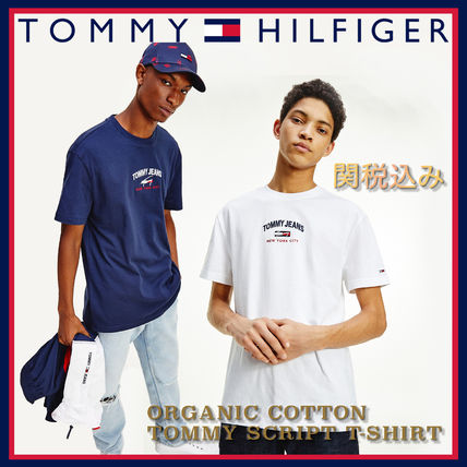 Tommy Hilfiger More T-Shirts Street Style Plain Cotton Short Sleeves Logo T-Shirts