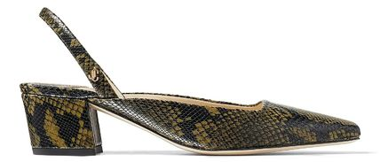 Jimmy Choo Casual Style Leather Party Style Office Style Python