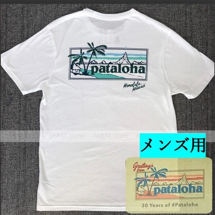 Patagonia More T-Shirts Unisex Street Style Plain Cotton Short Sleeves Logo Outdoor