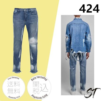 424 on Fairfax More Jeans Denim Street Style Plain Cotton Logo Jeans