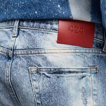 424 on Fairfax More Jeans Denim Street Style Plain Cotton Logo Jeans 9