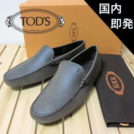 TOD'S Driving Shoes Moccasin Leather Loafers & Slip-ons