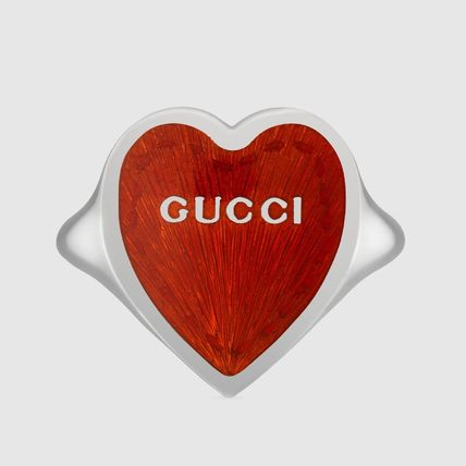 GUCCI Casual Style Unisex Street Style Silver Rings