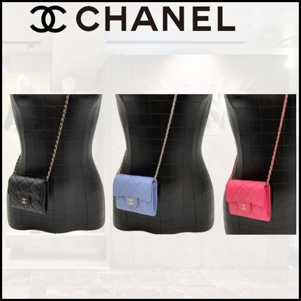 CHANEL CHAIN WALLET Classic Clutch With Chain