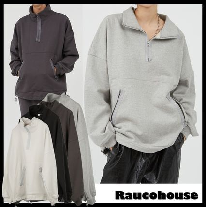 Raucohouse Casual Style Unisex Street Style Tops
