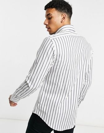 POLO RALPH LAUREN Shirts Stripes Street Style Long Sleeves Cotton Logo Surf Style 3
