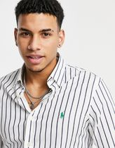 POLO RALPH LAUREN Shirts Stripes Street Style Long Sleeves Cotton Logo Surf Style 4