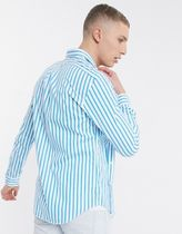 POLO RALPH LAUREN Shirts Stripes Street Style Long Sleeves Cotton Logo Surf Style 7