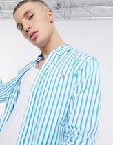 POLO RALPH LAUREN Shirts Stripes Street Style Long Sleeves Cotton Logo Surf Style 8
