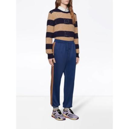 GUCCI Crew Neck Stripes Unisex Wool Long Sleeves Luxury Sweaters