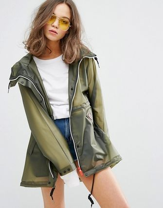 HUNTER More Outerwear Casual Style Plain Sheer Outerwear 3