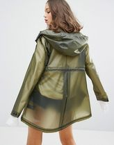 HUNTER More Outerwear Casual Style Plain Sheer Outerwear 4