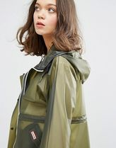 HUNTER More Outerwear Casual Style Plain Sheer Outerwear 5