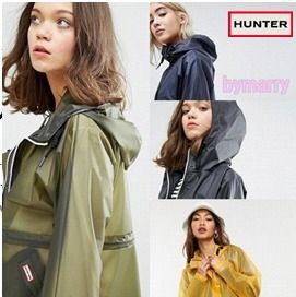HUNTER More Outerwear Casual Style Plain Sheer Outerwear