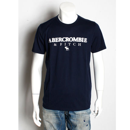 Abercrombie & Fitch Crew Neck Crew Neck Cotton Short Sleeves Logo Surf Style
