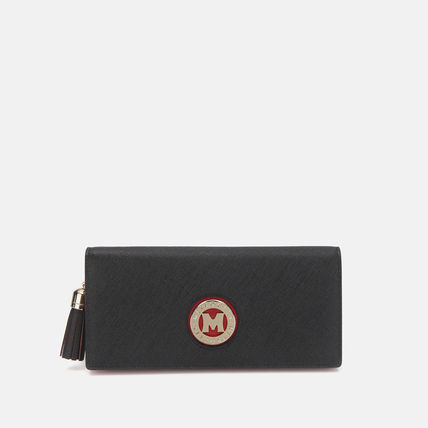 Unisex Plain Logo Long Wallets