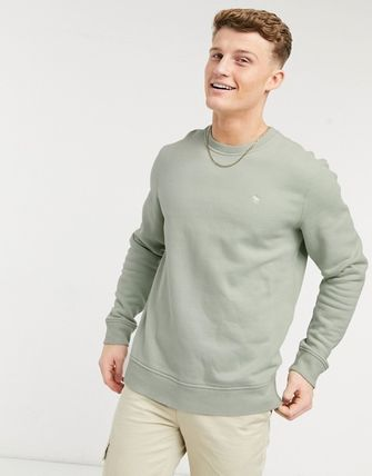 Abercrombie & Fitch Sweatshirts Crew Neck Pullovers Unisex Street Style Long Sleeves Plain 2