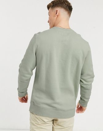 Abercrombie & Fitch Sweatshirts Crew Neck Pullovers Unisex Street Style Long Sleeves Plain 3