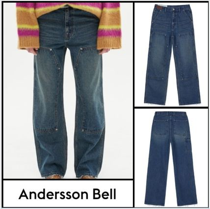 ANDERSSON BELL More Jeans Denim Street Style Plain Cotton Jeans