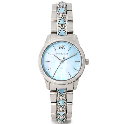 Michael Kors Round Formal Style  Casual Style Metal Silicon Party Style