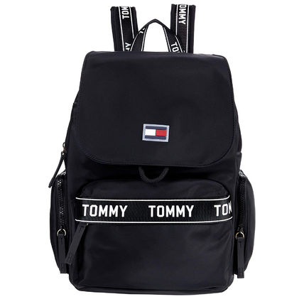 Tommy Hilfiger Casual Style Nylon Street Style Office Style Logo Backpacks
