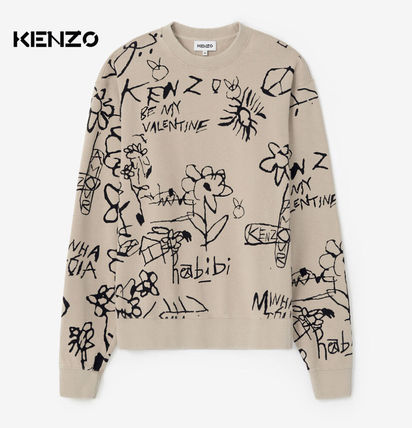 KENZO Sweat Street Style Long Sleeves Logo Designers Sweatshirts