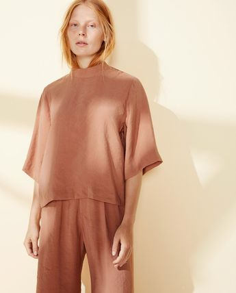 Street Style Cropped Plain Party Style Oversized