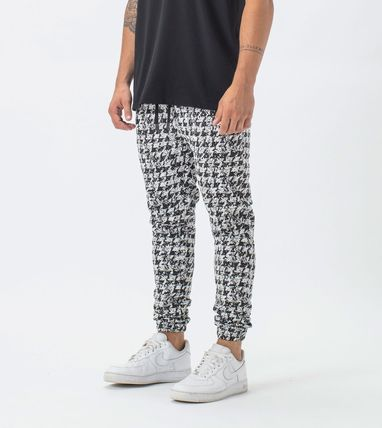 Ron Herman Printed Pants Zigzag Street Style Cotton Patterned Pants