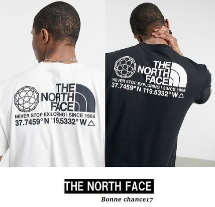 THE NORTH FACE Crew Neck Crew Neck Street Style Cotton Short Sleeves Logo Outdoor
