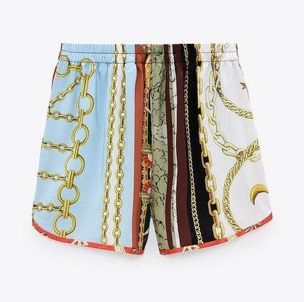 ZARA Printed Pants Casual Style Shorts