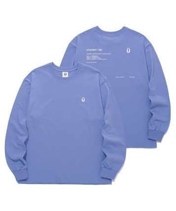 Pullovers Unisex Street Style Long Sleeves Cotton Oversized