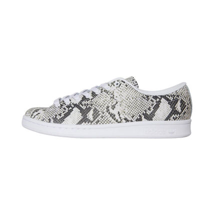 Unisex Collaboration Leather Python Low-Top Sneakers