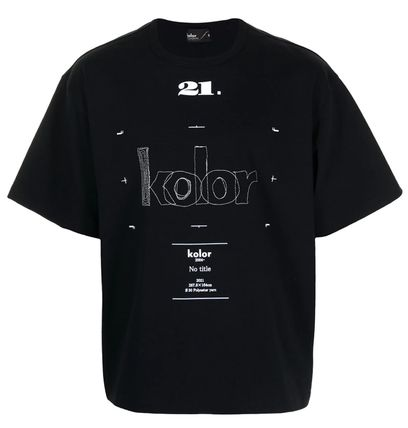 KOLOR Crew Neck Crew Neck Street Style U-Neck Plain Cotton Short Sleeves 2