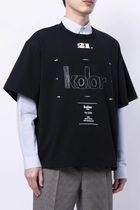 KOLOR Crew Neck Crew Neck Street Style U-Neck Plain Cotton Short Sleeves 4