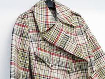 Burberry Other Plaid Patterns Casual Style Street Style Plain Long