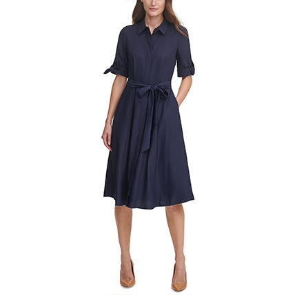 Formal Style  Front Button Plain Medium Short Sleeves
