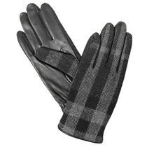 Burberry Other Plaid Patterns Cashmere Leather Logo