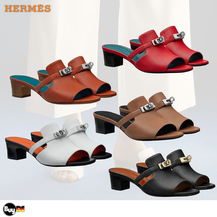HERMES Kelly Leather Sandals