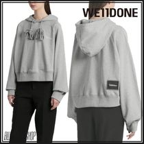 We11Done Street Style Long Sleeves Plain Cotton Logo
