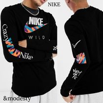 Nike Long Sleeve Crew Neck Pullovers Street Style Long Sleeves Cotton 7