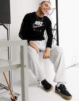 Nike Long Sleeve Crew Neck Pullovers Street Style Long Sleeves Cotton 5