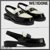 We11Done Plain Leather Logo Loafer & Moccasin Shoes
