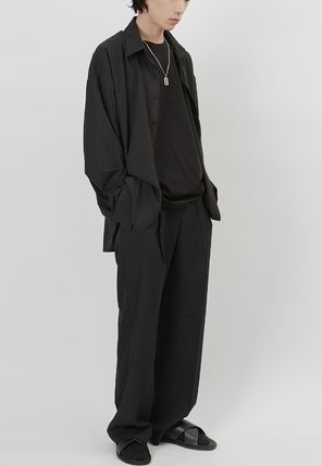 Raucohouse Slax Pants Unisex Street Style Collaboration Plain Oversized